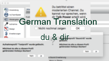 German Translation (du)