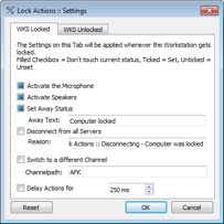 Session Lock Actions